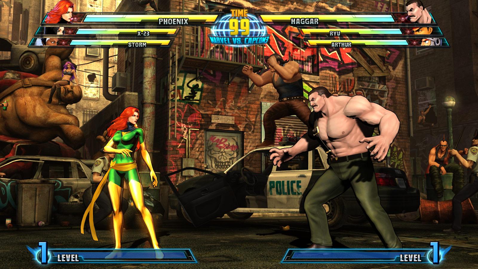 Phoenix and Haggar screen shots for Marvel vs. Capcom 3 #4