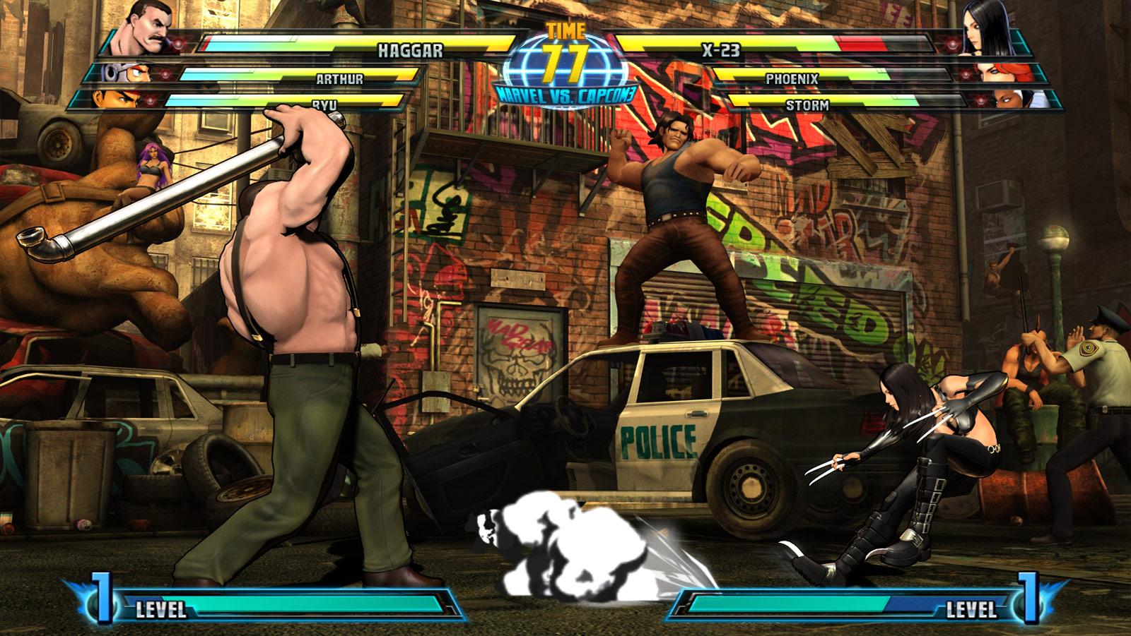 Phoenix and Haggar screen shots for Marvel vs. Capcom 3 #5