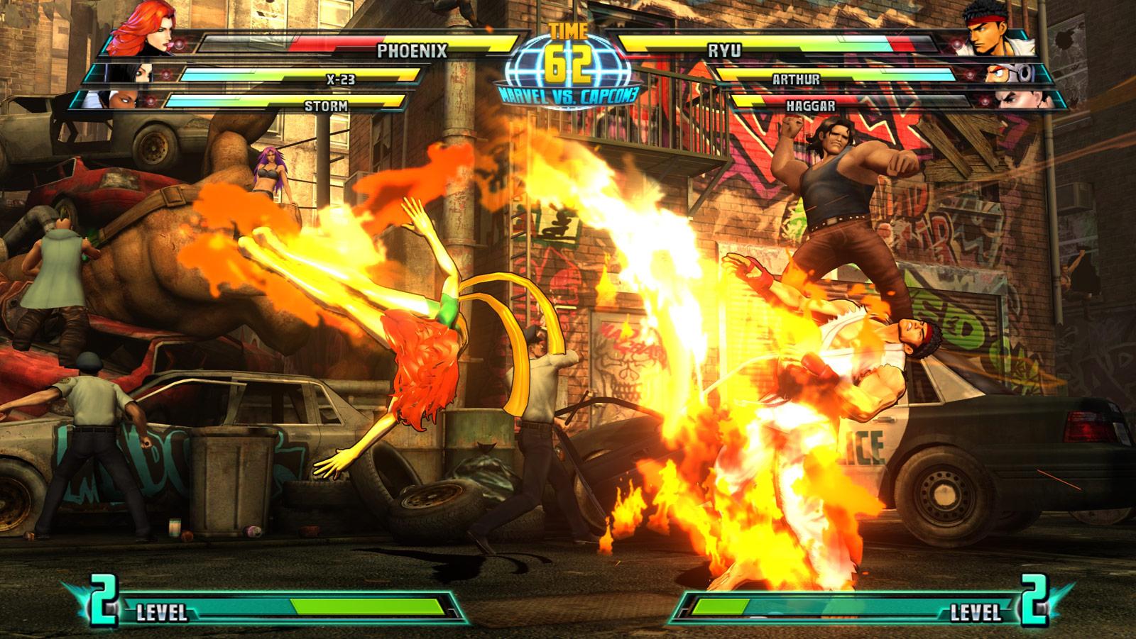 Phoenix and Haggar screen shots for Marvel vs. Capcom 3 #6