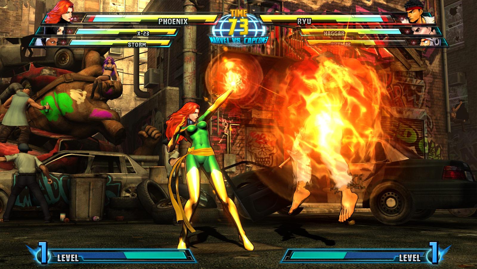 Phoenix and Haggar screen shots for Marvel vs. Capcom 3 #8