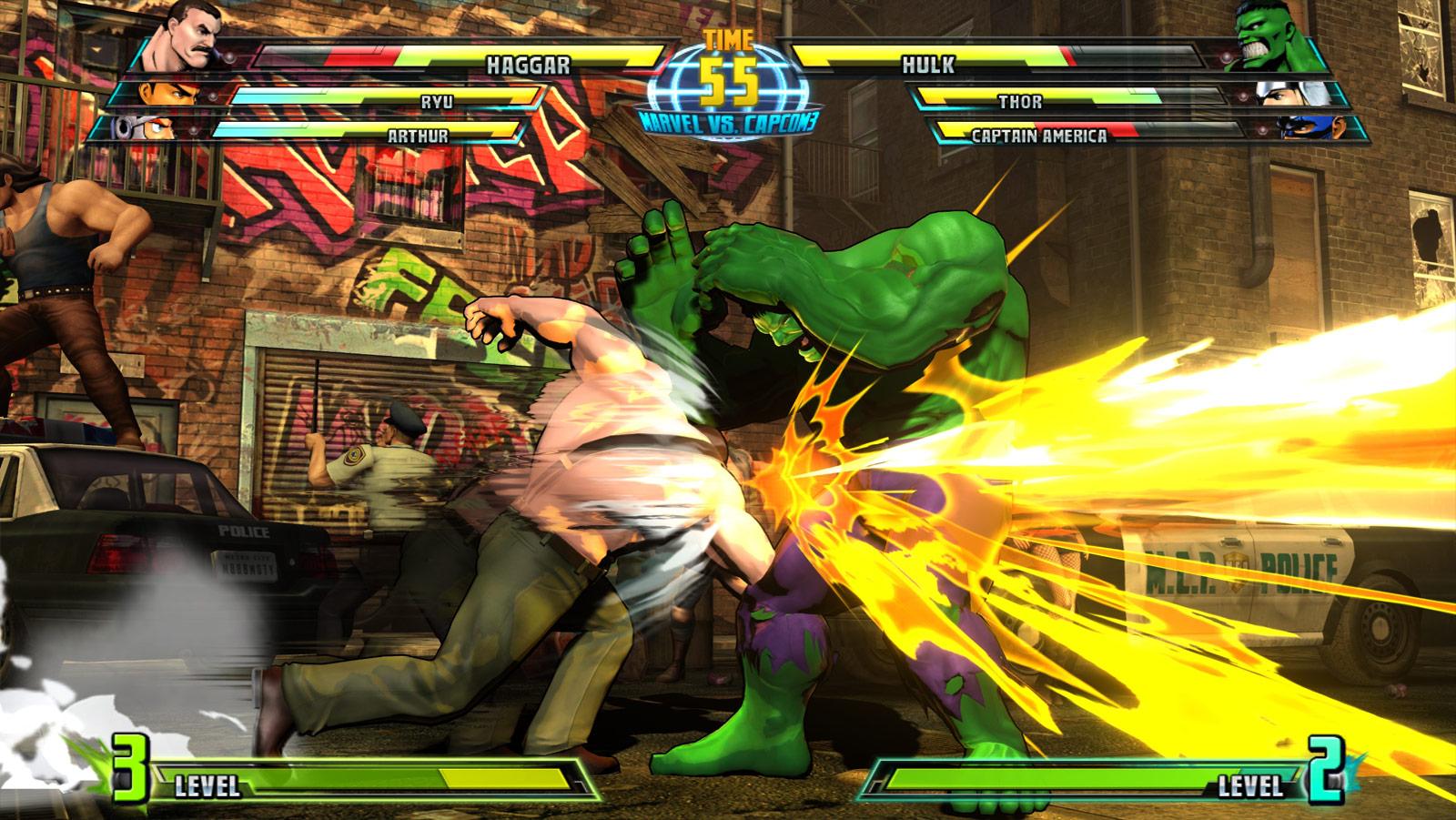 Phoenix and Haggar screen shots for Marvel vs. Capcom 3 #9