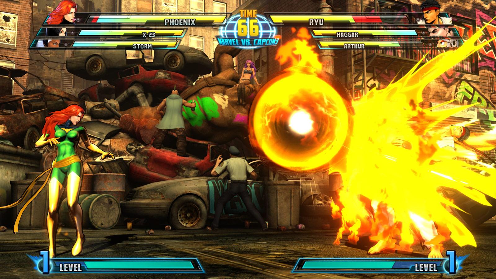 Phoenix and Haggar screen shots for Marvel vs. Capcom 3 #10