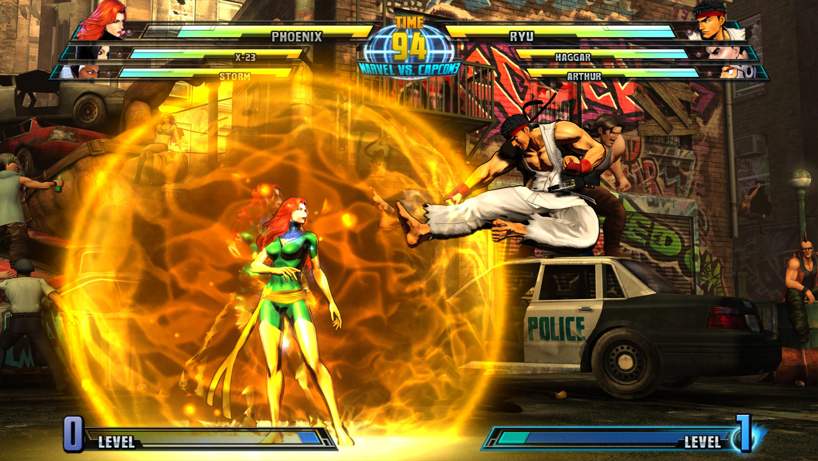 Phoenix and Haggar screen shots for Marvel vs. Capcom 3 #16