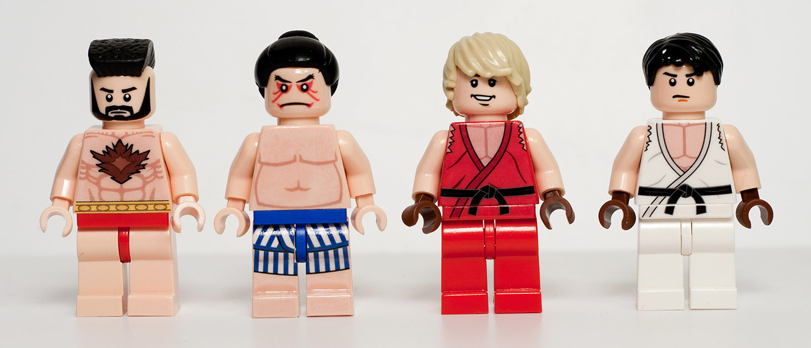 Lego Street Fighter minifigs by Julian Fong