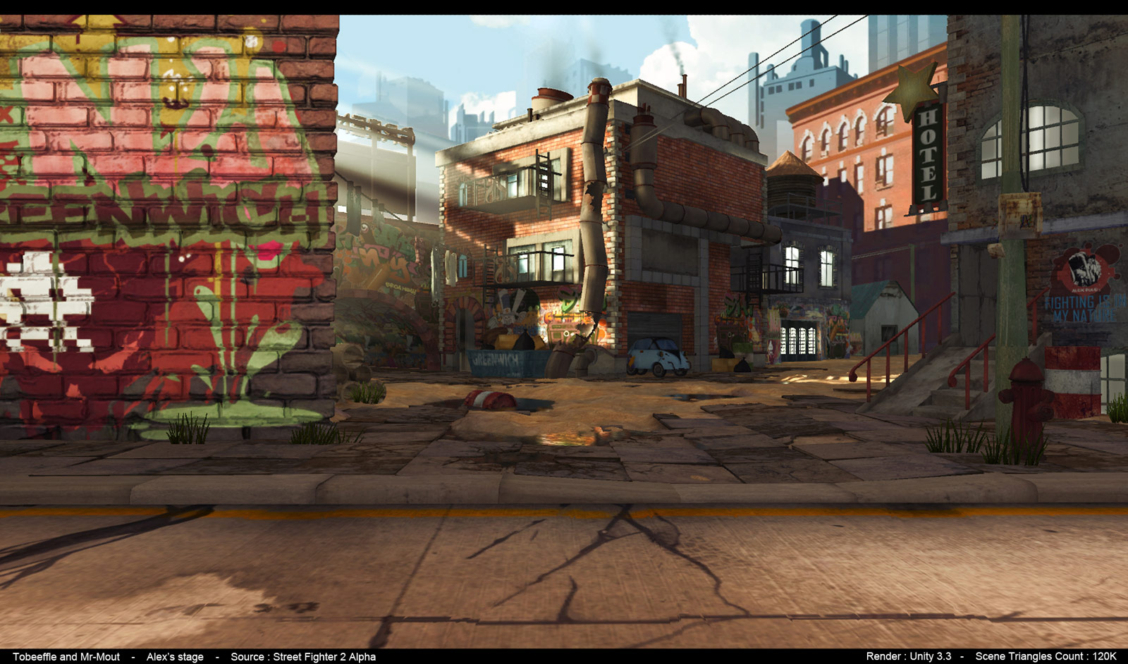 Alex's Street Fighter 3 stage reimagined image #3
