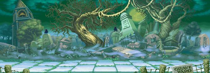Darkstalkers graveyard stage reimagined image #1