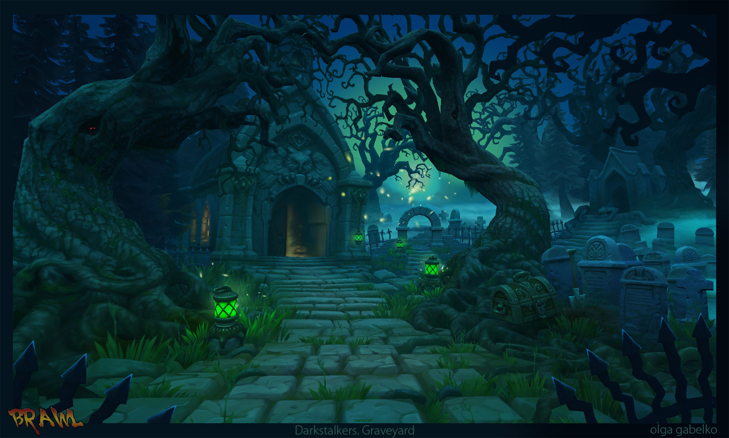 Darkstalkers graveyard stage reimagined image #2