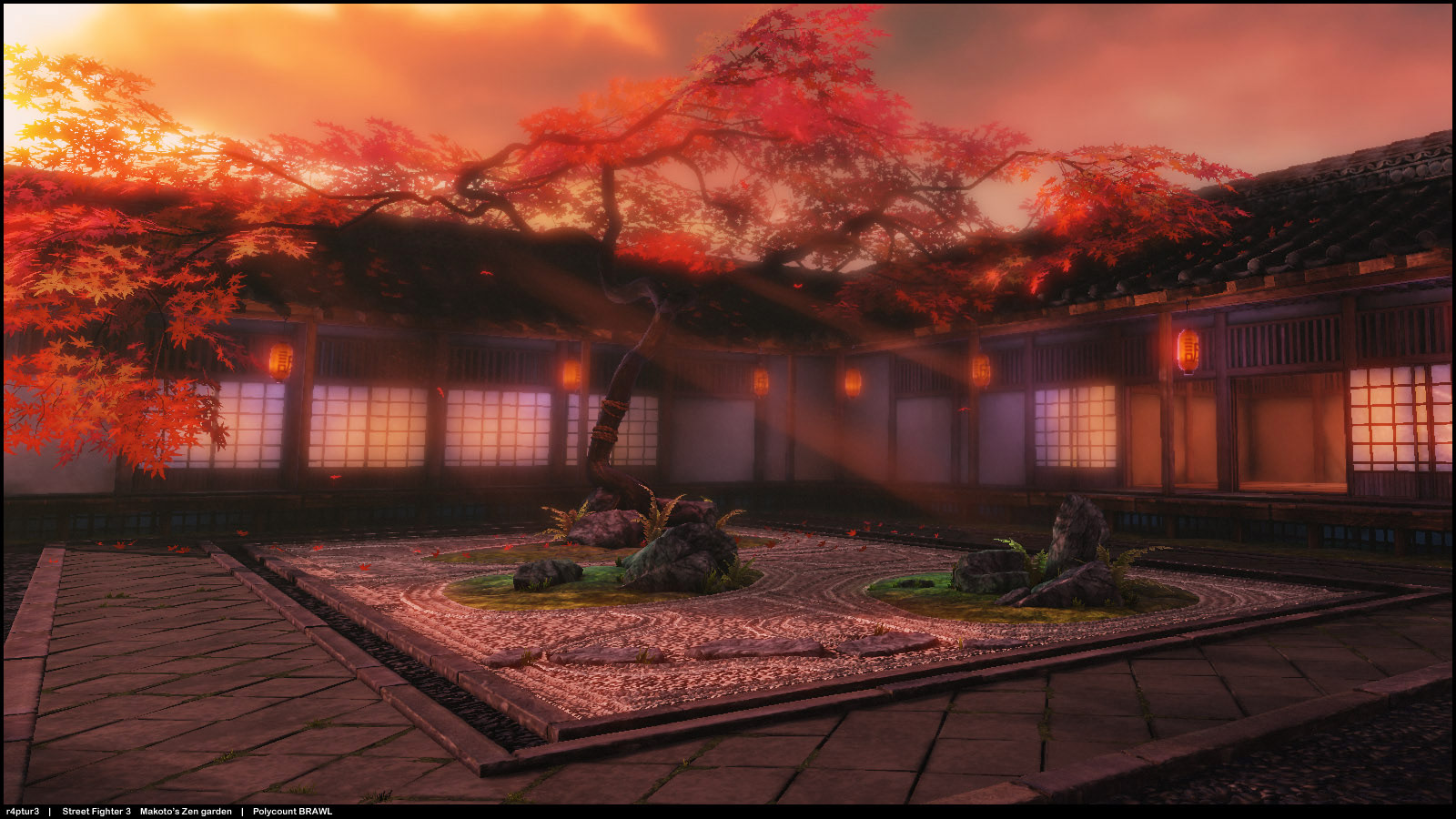 Makoto Street Fighter 3 stage reimagined image #2
