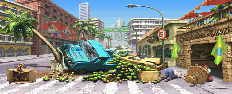 Sean Street Fighter 3 stage reimagined image #1