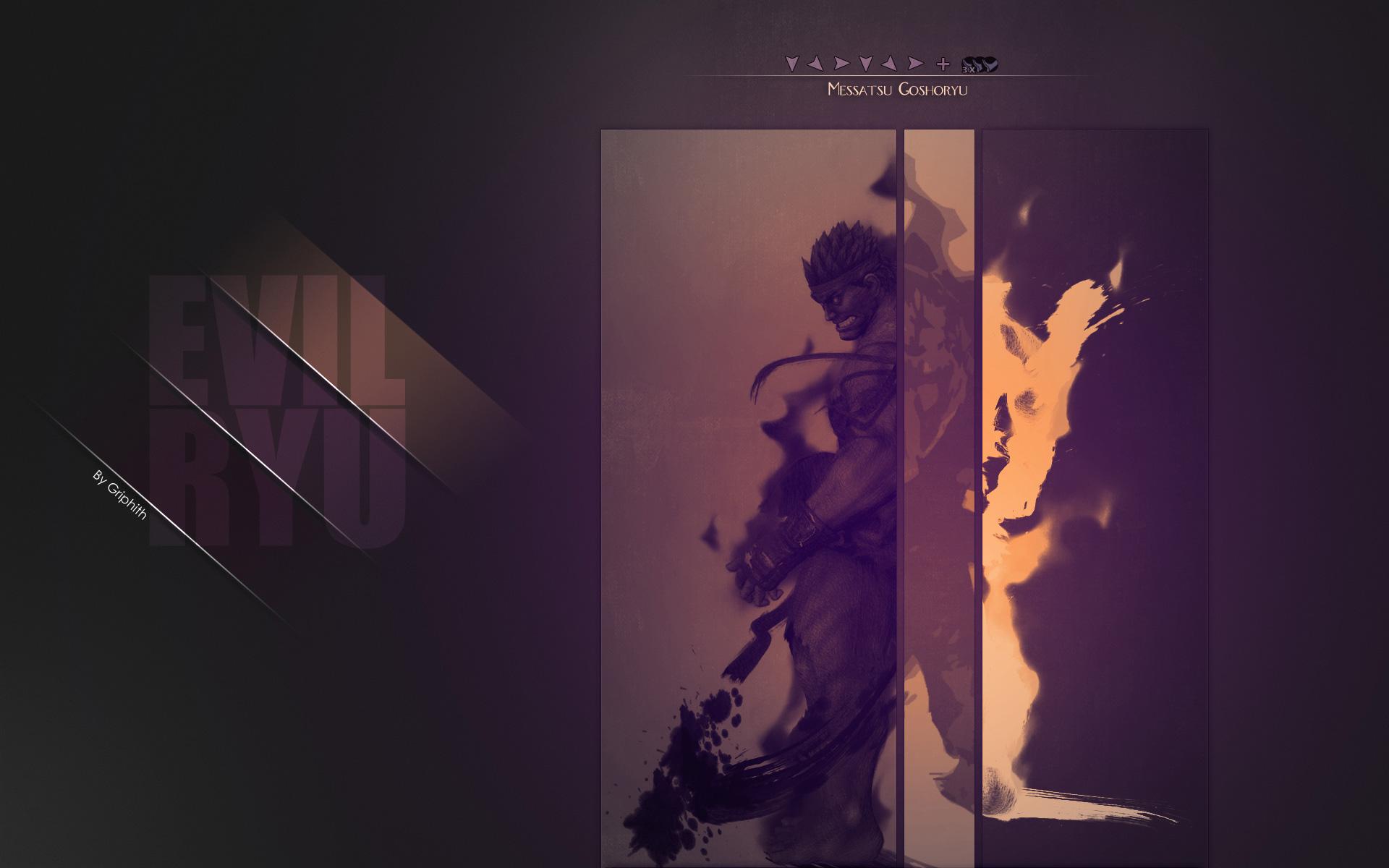 Evil Ryu Super Street Fighter 4 Arcade Edition Wallpaper