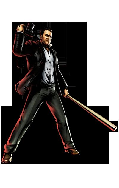 Frank West's artwork for Ultimate Marvel vs. Capcom 3