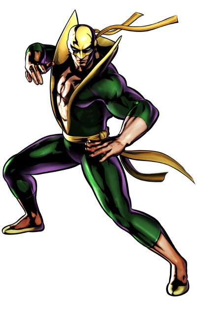 Iron Fist's artwork for Ultimate Marvel vs. Capcom 3