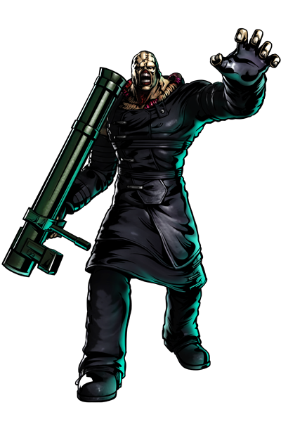 Nemesis' artwork for Ultimate Marvel vs. Capcom 3