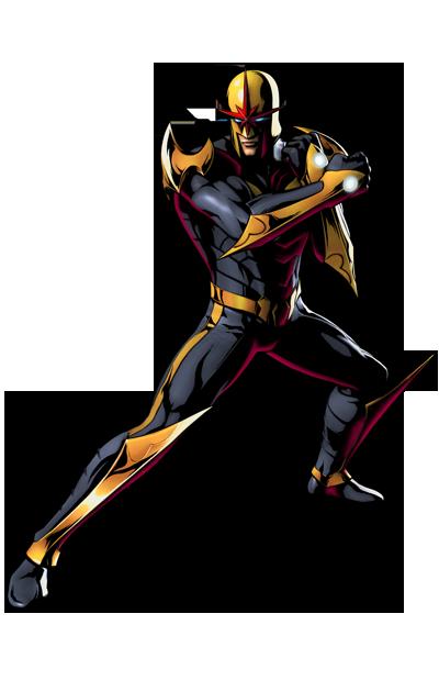 Nova's artwork for Ultimate Marvel vs. Capcom 3