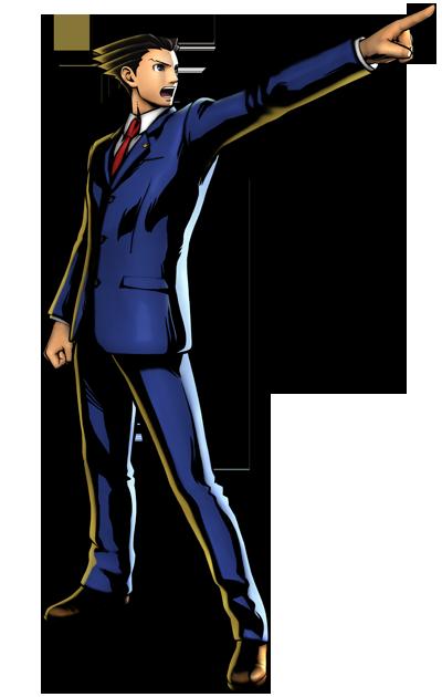 Phoenix Wright's artwork for Ultimate Marvel vs. Capcom 3