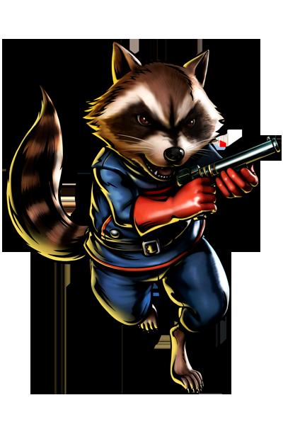 Rocket Raccoon's artwork for Ultimate Marvel vs. Capcom 3