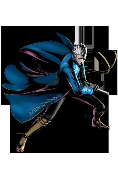 Vergil's artwork for Ultimate Marvel vs. Capcom 3