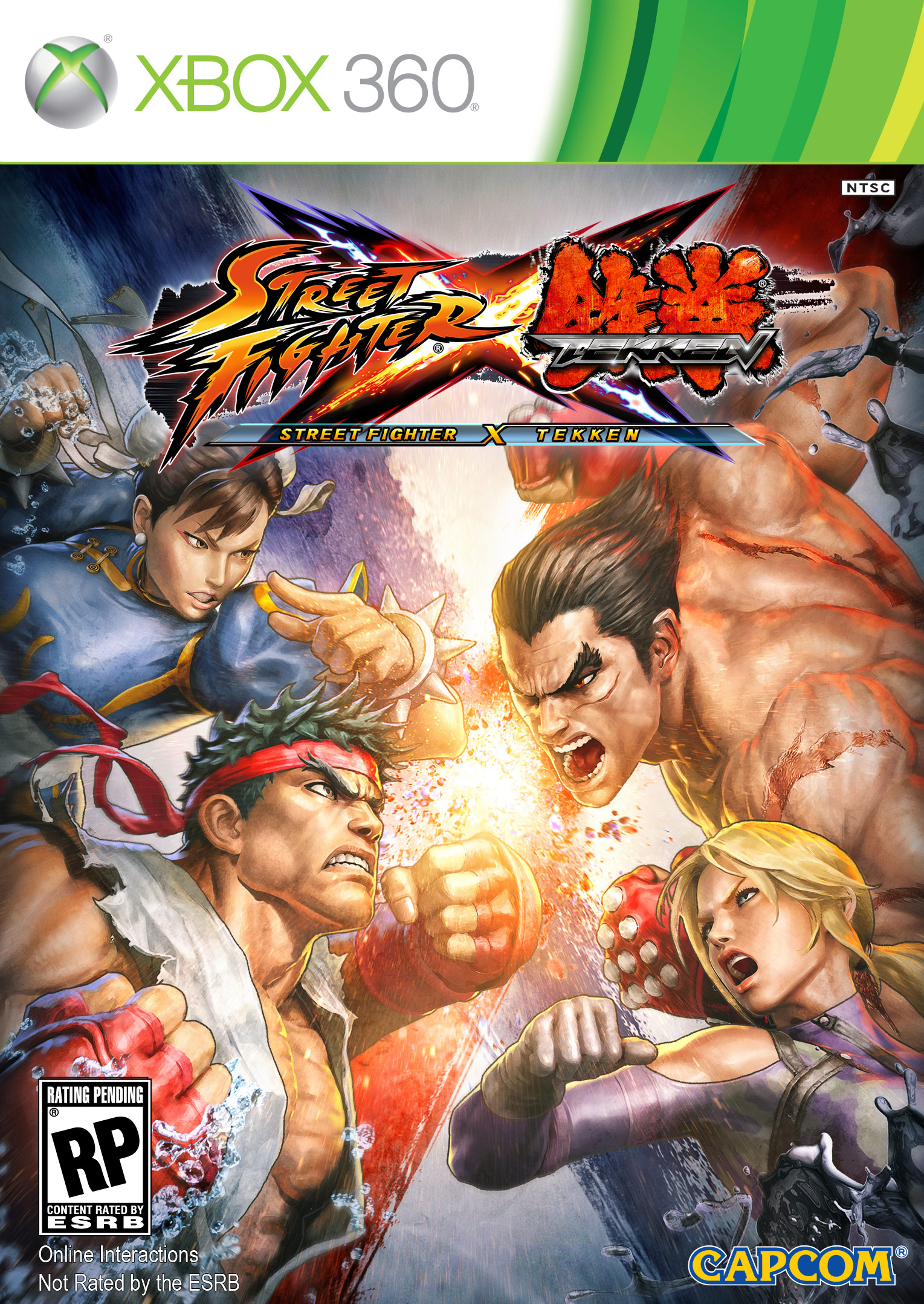 Cover artwork for Street Fighter X Tekken on the Xbox 360