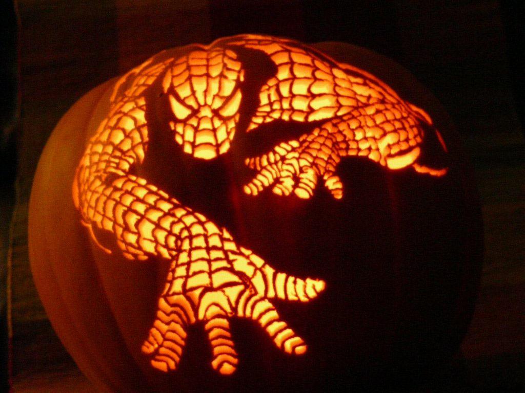Fighting game pumpkin carvings