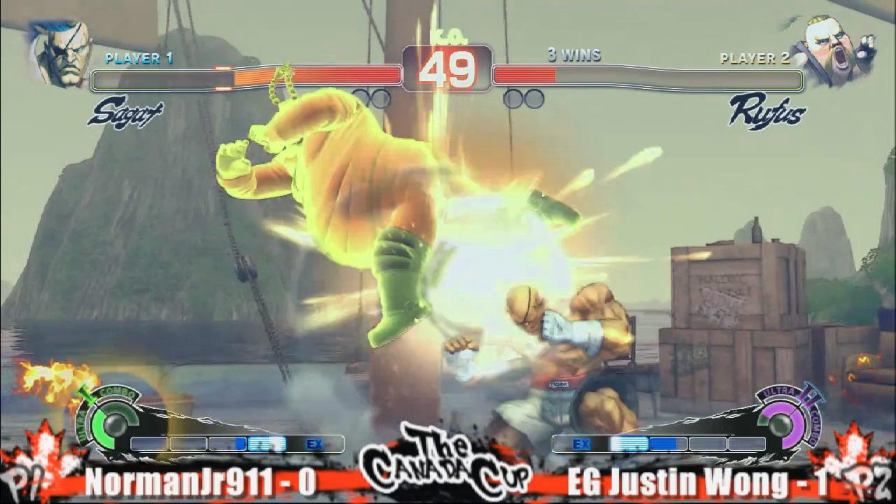 Justin Wong's Rufus vs. NormanJr911's Sagat