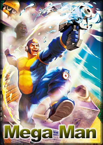 Mega Man and Pac-Man artwork for Street Fighter X Tekken #1