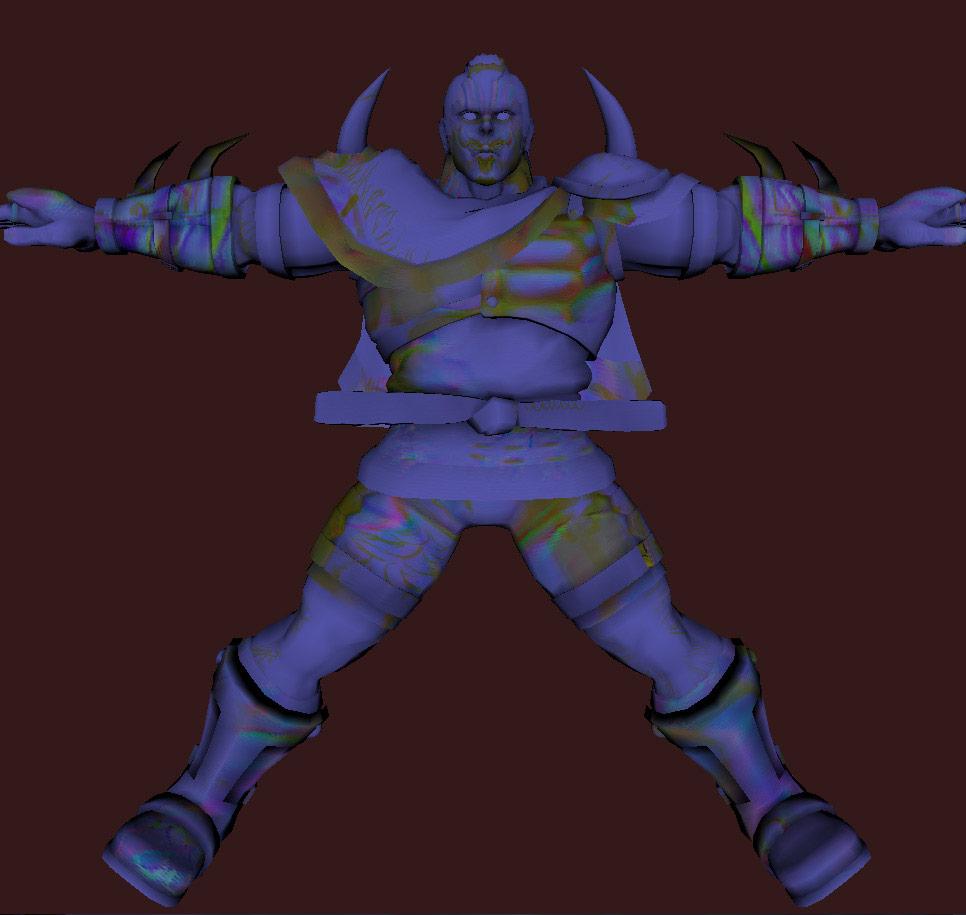 Models of Street Fighter X Tekken characters #01