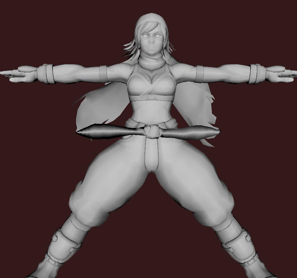 Models of Street Fighter X Tekken characters #07