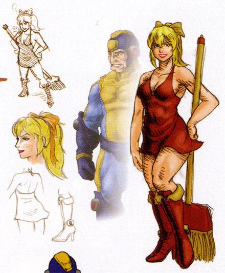 Street Fighter X Tekken Mega Man concept Art #3