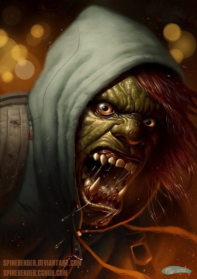 Fighting game artwork by SpineBender #4