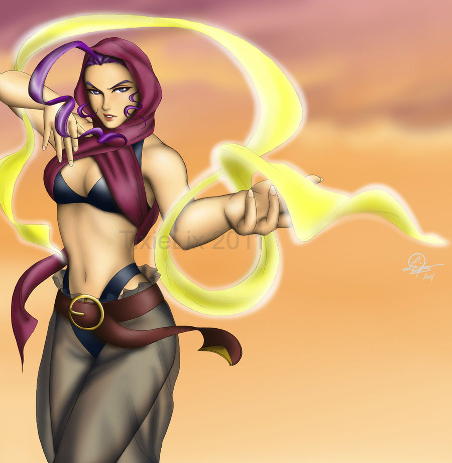 Fighting game artwork by TixieLix #1