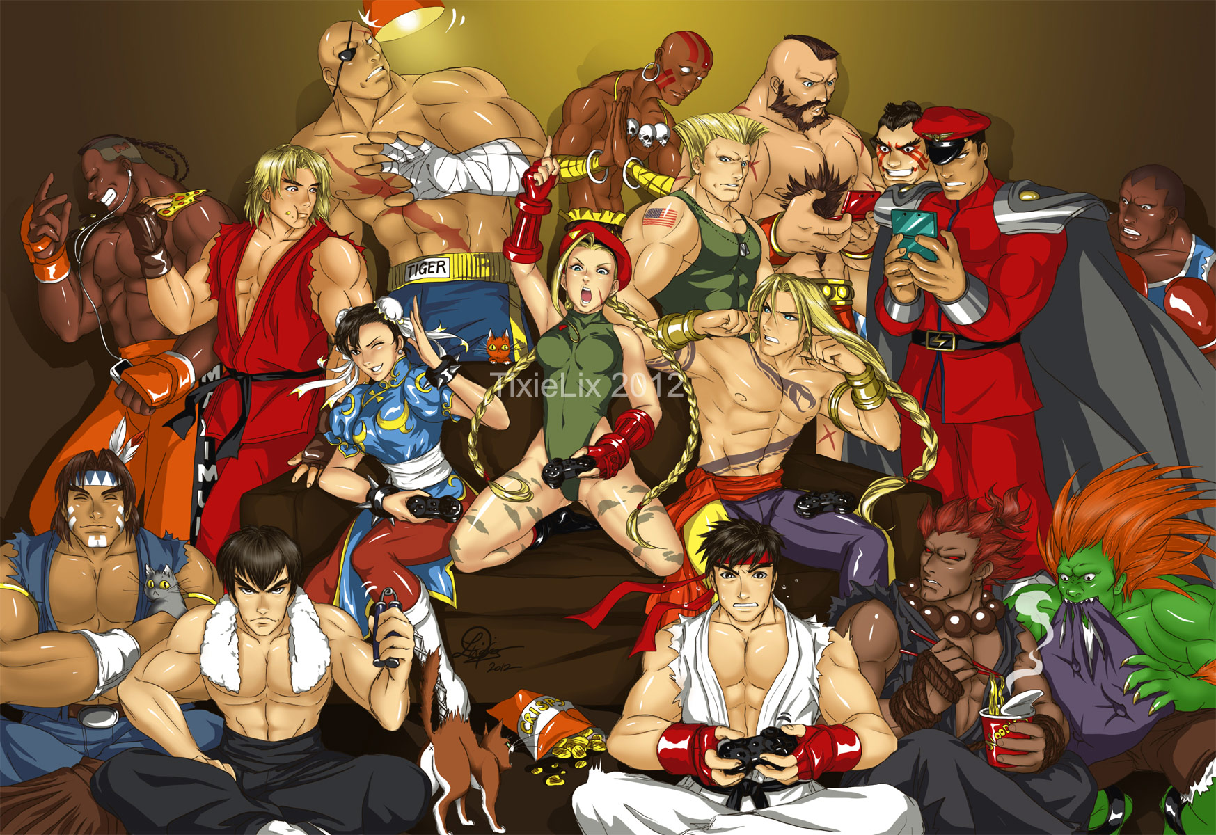 Fighting game artwork by TixieLix #11