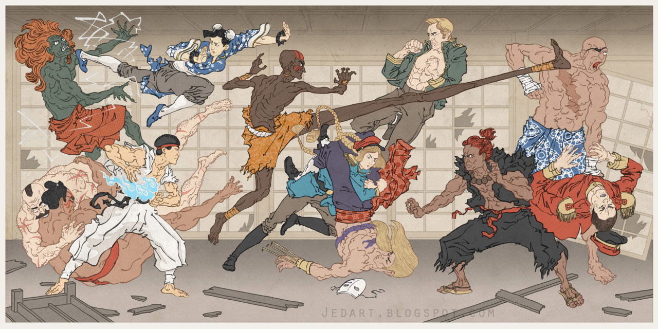 Street Fighter artwork by Jed Henry