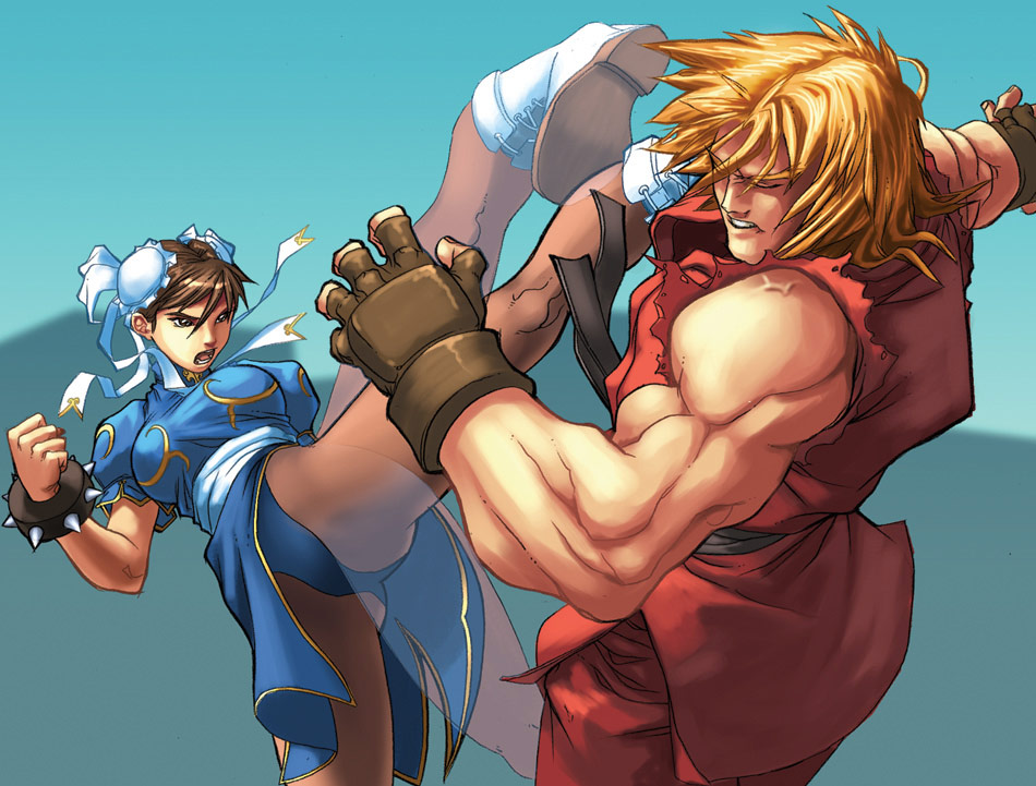 UFS Street Fighter card game artwork from a variety of artists #3