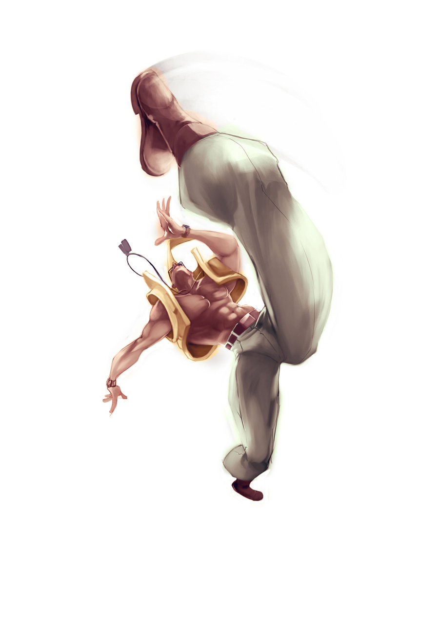 Street Fighter forced perspective artwork #4