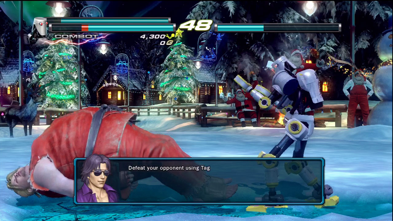 Ken, Ryu and Akuma cameo appearances in Tekken Tag Tournament 2 #02