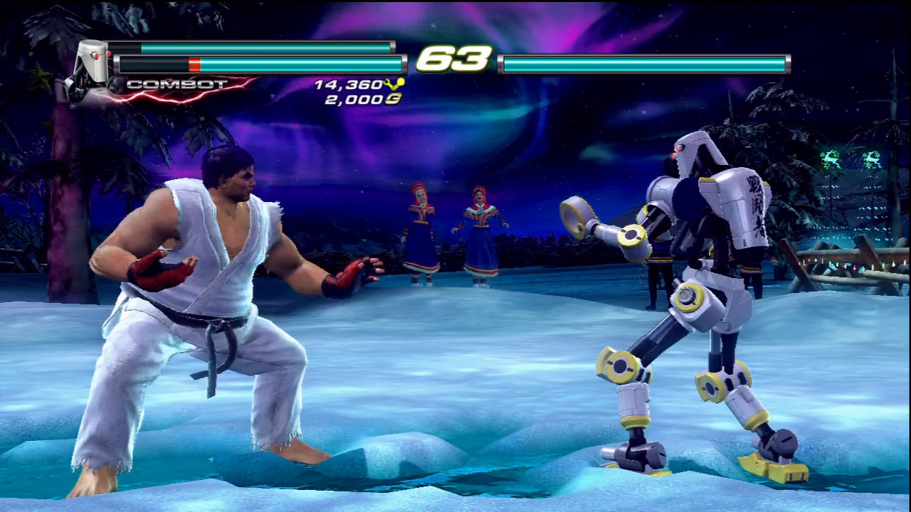 Ken, Ryu and Akuma cameo appearances in Tekken Tag Tournament 2 #03