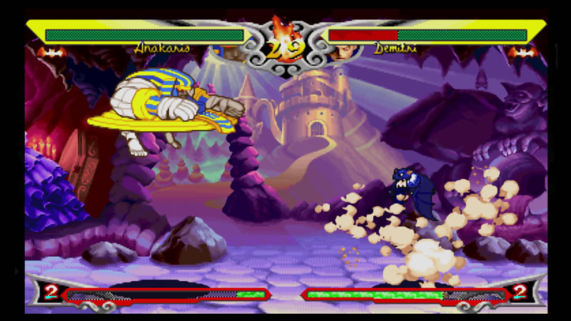 Darkstalkers Resurrection screen shots for Hsien-Ko, B.B. Hood, Q. Bee, Donovan and Anakaris #6