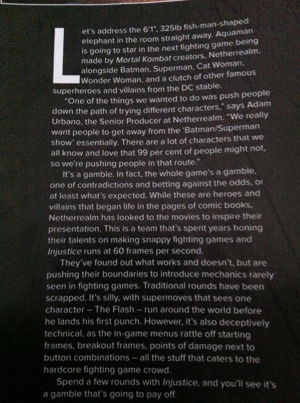 Aquaman, Ares, Black Adam mentioned in PlayStation Magazine #02