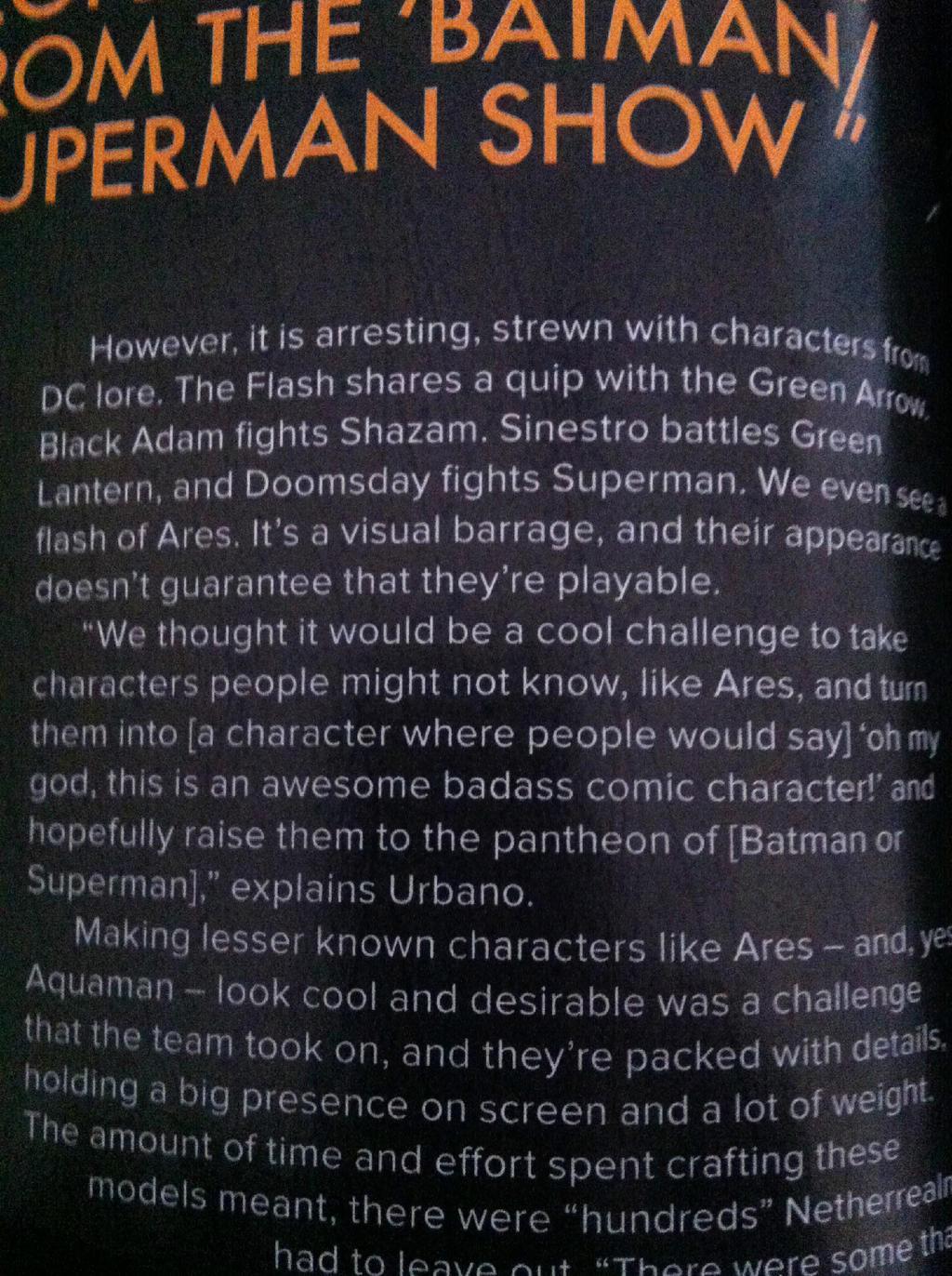 Aquaman, Ares, Black Adam mentioned in PlayStation Magazine #03