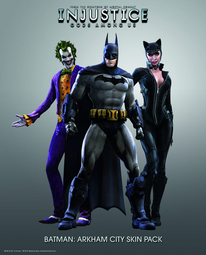 Injustice: Gods Among Us pre-order skin pack Arkham City