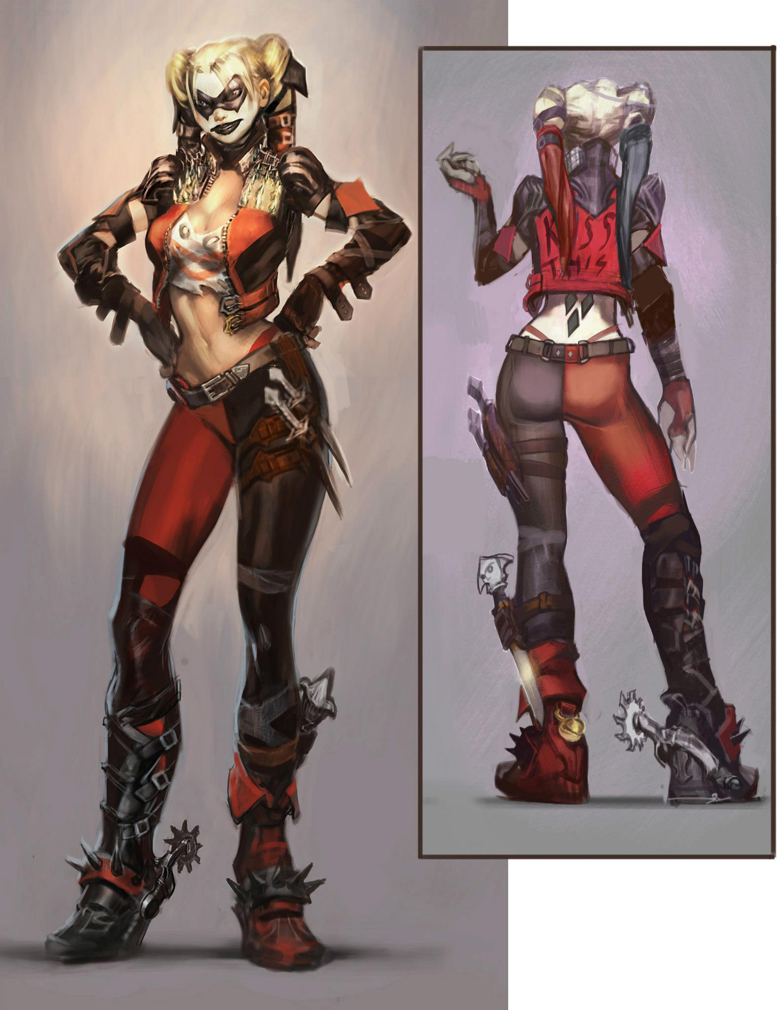 Bane and Harley Quinn alternates #04