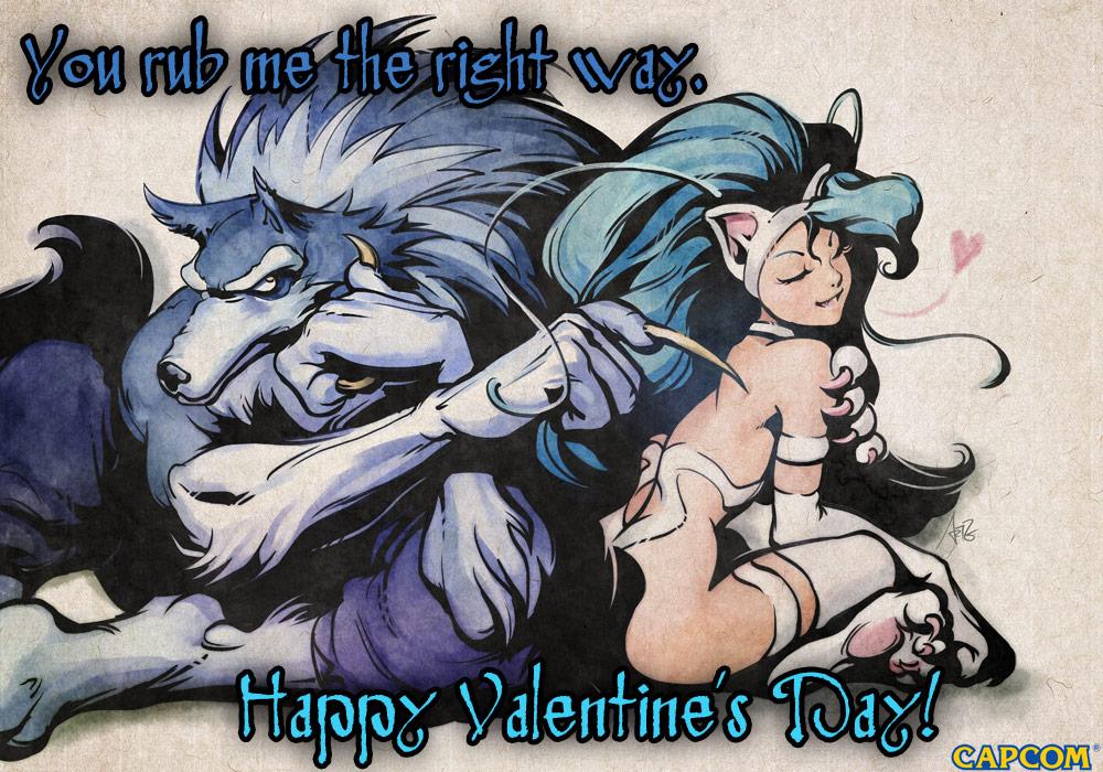 Darkstalkers Valentine's Day card #1