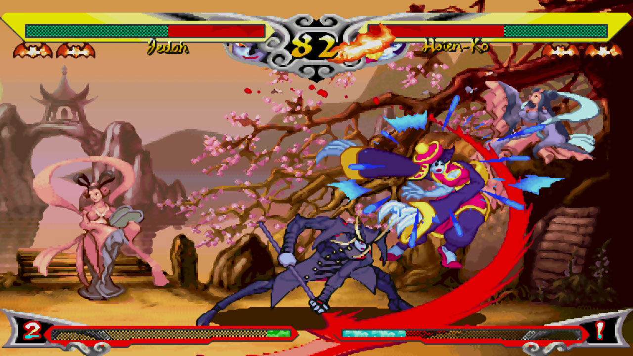 Darkstalkers Resurrection graphic filters and viewpoints #01
