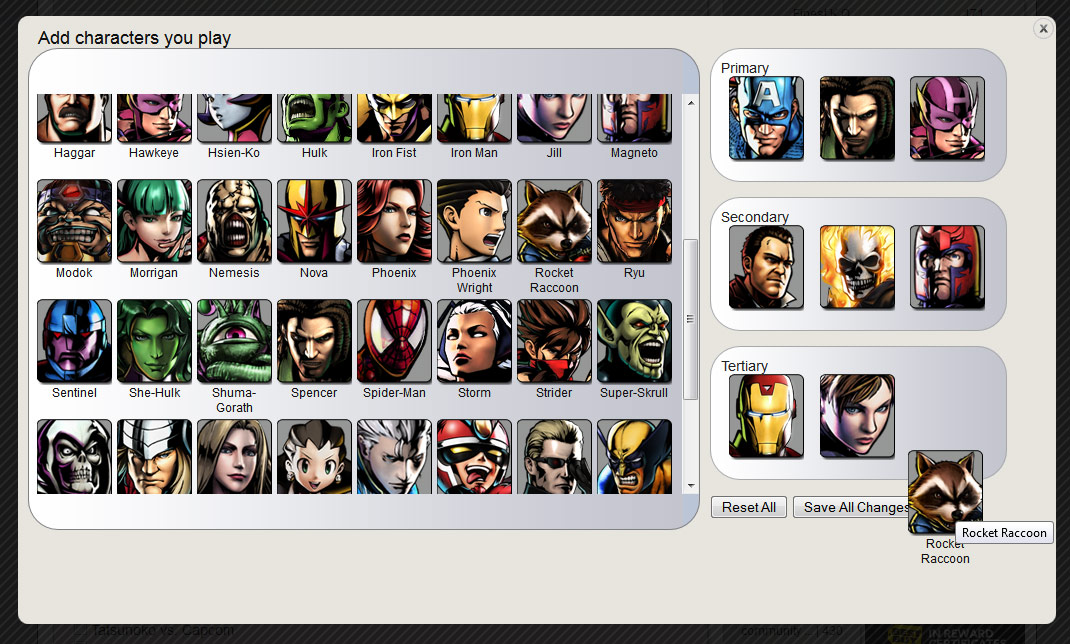 New site features: Characters in profiles and Fight Tracker searching by characters image #2