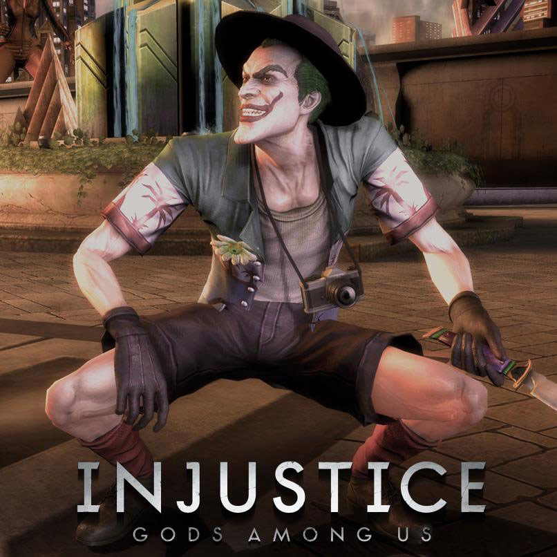 The Joker's Killing Joke alternate costume in Injustice: Gods Among Us