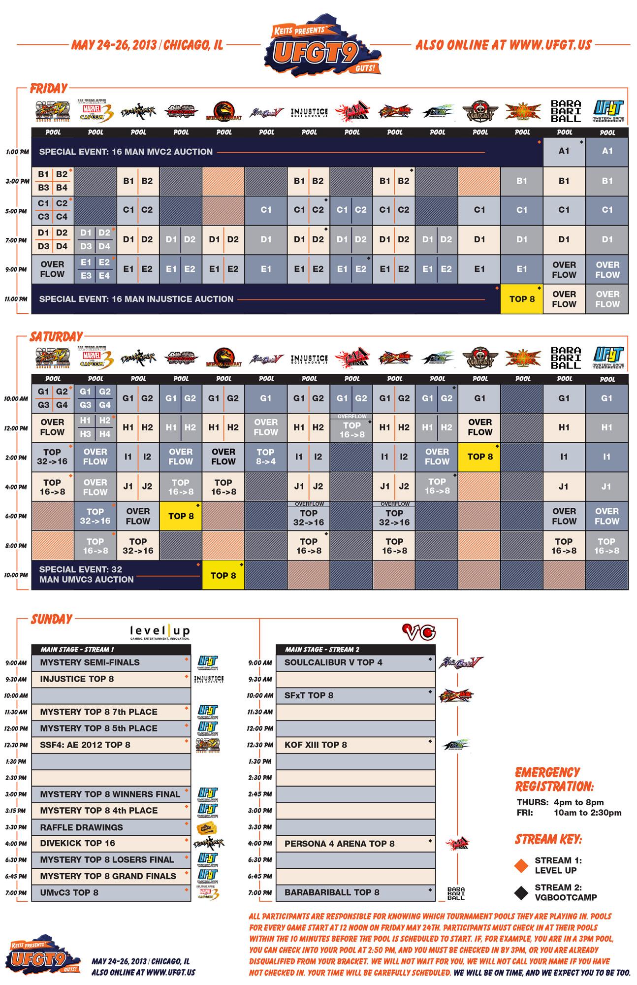 UFGT9 schedule