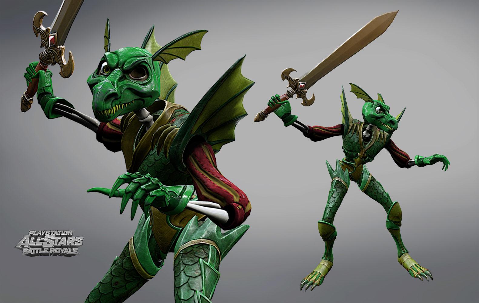Sir Daniel's Dragon Armor in PlayStation All-Stars Battle Royale image #1