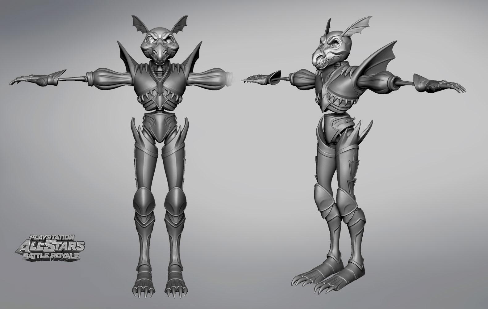 Sir Daniel's Dragon Armor in PlayStation All-Stars Battle Royale image #2