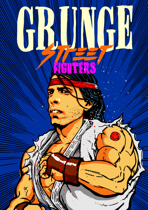 Grunge Street Fighter character art image #6