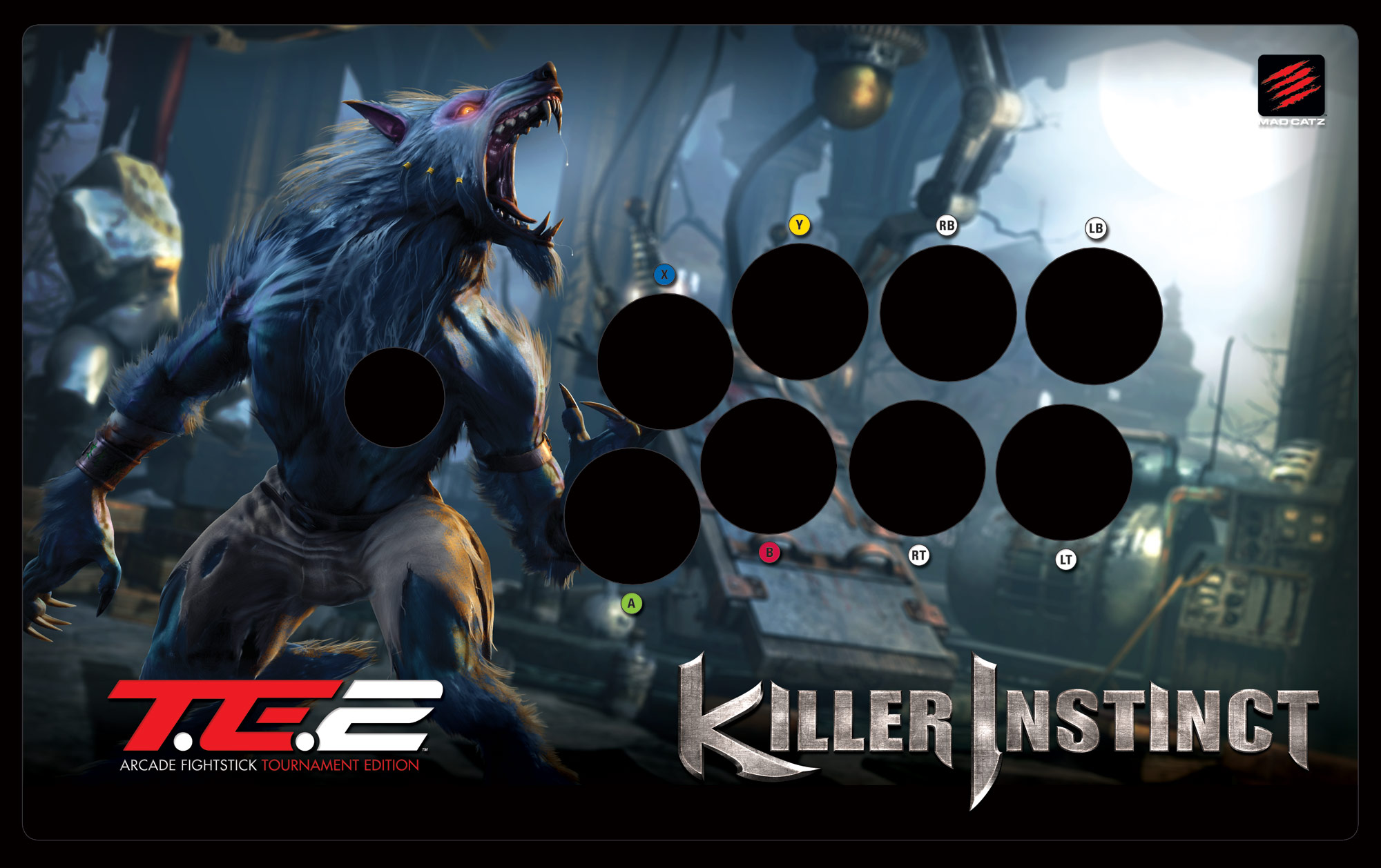 want to swap out the artwork on your te2 mad catz got you covered